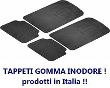 4 PEZZI Set TAPPETINI IN GOMMA INODORE universali, tappeti auto, MADE IN ITALY