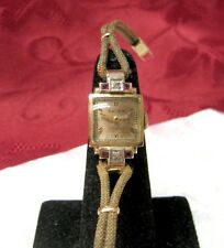 14K ROSE GOLD GRUEN PRECISION LADIES WATCH WITH RUBY AND DIAMOND RUNS GREAT