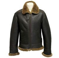 Men's Aviator B3 Ginger Real Shearling Sheepskin Leather Bomber Flying Jacket