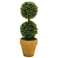 Artificial Plastic Trees In Pots Plant Potted Decor Garden Yard Indoor Outd J0B4