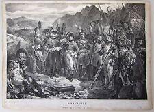 1826-27 BONAPARTE ARRIVE À L'ARMÉE D'ITALIE lito Raffet  Armata Italia Napoleone