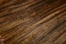 Fumed Etimoe Raw Wood Veneer 10 x 23 inches 1/42nd thick                r7711-21