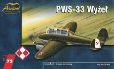 PWS 33 WYZEL (POLISH AF 1939 MARKINGS) 1/72 ARDPOL RESIN (pzl)