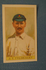 1912 Reeves Chocolates Cricket Prints by County Print 1993 - J.T. Tyldesley.