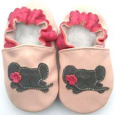 Freeship Littleoneshoes Soft Sole Leather Baby Shoes Infant ElephantPink 12-18M