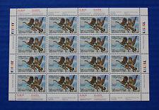 Canada (CN03) 1987 Wildlife Habitat Conservation Stamp Sheet (MNH)