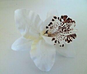 Orchid Flower Hair Grip Clip Festival Wedding Bridesmaid Prom 4 Colours Free P&P