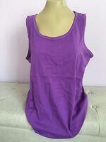 Plus Size Tank Top 100% Cotton Lilac Sleeveless Ellos Shirt Blouse  M,L,1X,2X,5X