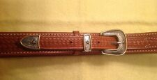 REDUCED PRICE! New El Paso Saddlery Ranger Style Basket Stamped Belt for Big Man