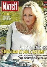 Couverture magazine,Coverage Paris Match 10/03/11 Adriana Karembeu