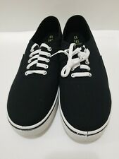 Men's George Black Canvas Lace-Up Sneakers Size 13 M