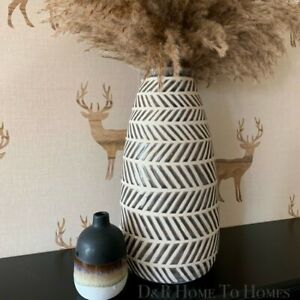 Tribal Black And White Ceramic Vase Gorgeous Large Vase