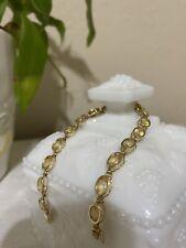 14k citrine bracelet