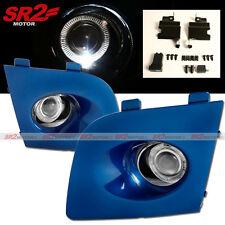 Blue Fog Lamp White Halo LED Bumper Lights fits 06 07 Subaru Impreza WRX STI