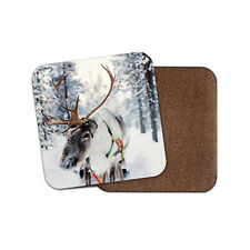 Lapland Reindeer Coaster - Christmas Festive Snow Finland Winter Kid Gift #16651