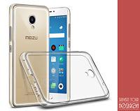 Cover Case Tpu Silicone Sottile Trasparente + Vetro Temperato Per Meizu M5 Note
