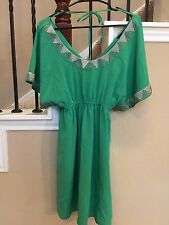 Gossip Girl by Romeo and Juliet Couture Dress Size S Small Green