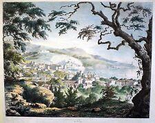 NIZZA - seltene Gesamtansicht Lithographie um 1850 - Original!!