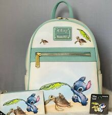 Authentic Loungefly Lilo & Stitch Turtles Backpack Set