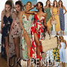 UK Womens Summer Floral Polka Dots Wide Leg Holiday Jumpsuits Playsuits Culotte