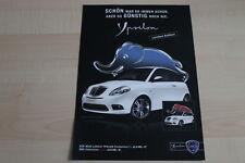96844) Lancia Ypsilon Elefantino Rosso Blu Prospekt 2009
