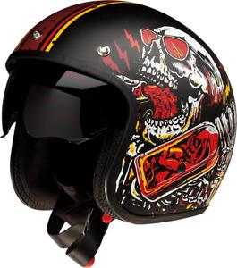 Z1R Saturn Devil Made Me Unisex Adult Open face 3/4 Motorcycle Riding Helmet