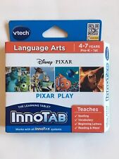 New VTech InnoTab Pixar Play Language Arts Game For Ages 4-7yrs