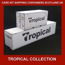 Tropical Shipping Container Card Kits 40ft Buy Now & FREE 20ft x 6 HO Gauge 1:87