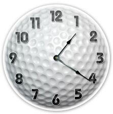 "12"" Golfer Golf Ball Clock - Large 12 inch Wall Clock - Printed Photo - 2122"