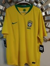 2018 Nike Breathe Men's Brazil Neymar Home Soccer National Team Jersey Xxl