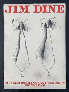 Jim Dine Signed Exhibition Poster 2 Ties. Museum Boymans Van Beuningen Rotterdam