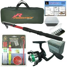 Roddarch© Junior Beginners Kids Novice Fishing Rod Reel Kit Set