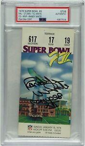"Randy White Signed Super Bowl XII (12) Authentic Ticket Stub ""CO-MVP SB XII"" PSA"
