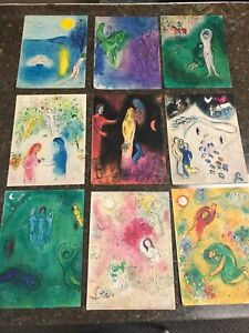"""Marc Chagall """" Daphnis and Chloe """" 42 Vintage Lithograph Antique Book Prints"""