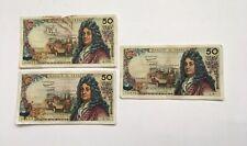 Lot De 3 Billets 50 Francs 3 Années Différentes