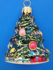 CHRISTMAS TREE WEIHNACHTSBAUM EUROPEAN BLOWN GLASS HOLIDAY ORNAMENT LIGHTS BAUM