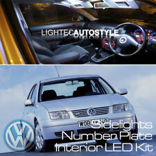 VW BORA FULL PURE WHITE LED 13/pc CONVERSION KIT SIDELIGHT NUMBER PLATE INTERIOR
