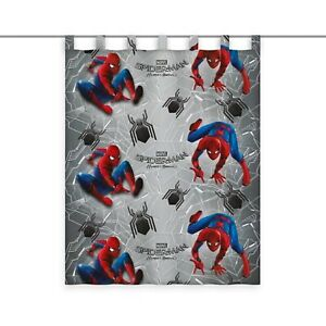Spiderman Gardine Vorhang Fertiggardine 140 x 175 cm blickdicht