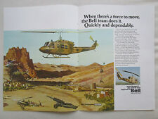 7/1977 PUB BELL HELICOPTER 206 214 212/UH-1N 205/UH-1H US ARMY ORIGINAL AD