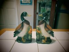 Vintage Mallard duck book ends Old Japan