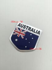 Australian National Flag Aussie Shield 3D Car Bike Boat Badge chrome sticker