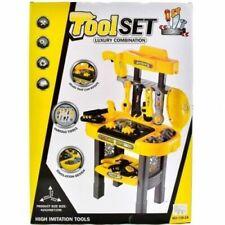 Children's Tool Set Kids Boys Building Work Bench Table Set DIY Toys Xmas Gift E