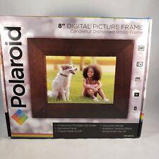 "Polaroid 8"" Digital Picture Frame w 7.9"" Screen & Wood Frame PDF-800CD BRAND NEW"