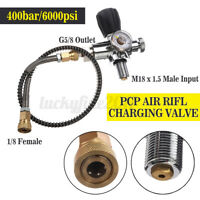 6000psi PCP Air Rifle Charging Valve Filling Station Refill Adaptor W/ 50cm Hose