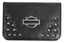Harley-Davidson Women's Studded Rider Leather Essentials Wallet RD4975L-BLK