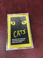 New CATS Soundtrack Cassette Cast Recording Original Broadway Cats Selections