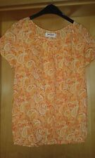 BLUSENSHIRT  BLUSE SHIRT  kurzarm   von John Baner  orange  Paisley Gr. 38  NEU