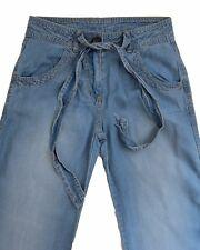 New Womens Blue Tencel NEXT Trousers Size 8 Long Leg 33