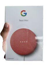 Google Nest Mini (2nd Generation) Smart Speaker - Coral * BRAND NEW & SEALED * !