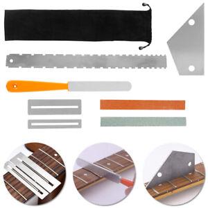 Guitar Luthier Tool Kit Set Fret Crowning File Rocker Fingerboard Protector G